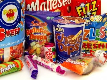 Mixture of retro sweets and childhood favourites