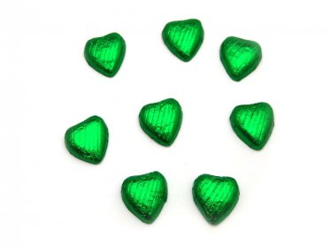Chocolate Hearts Green