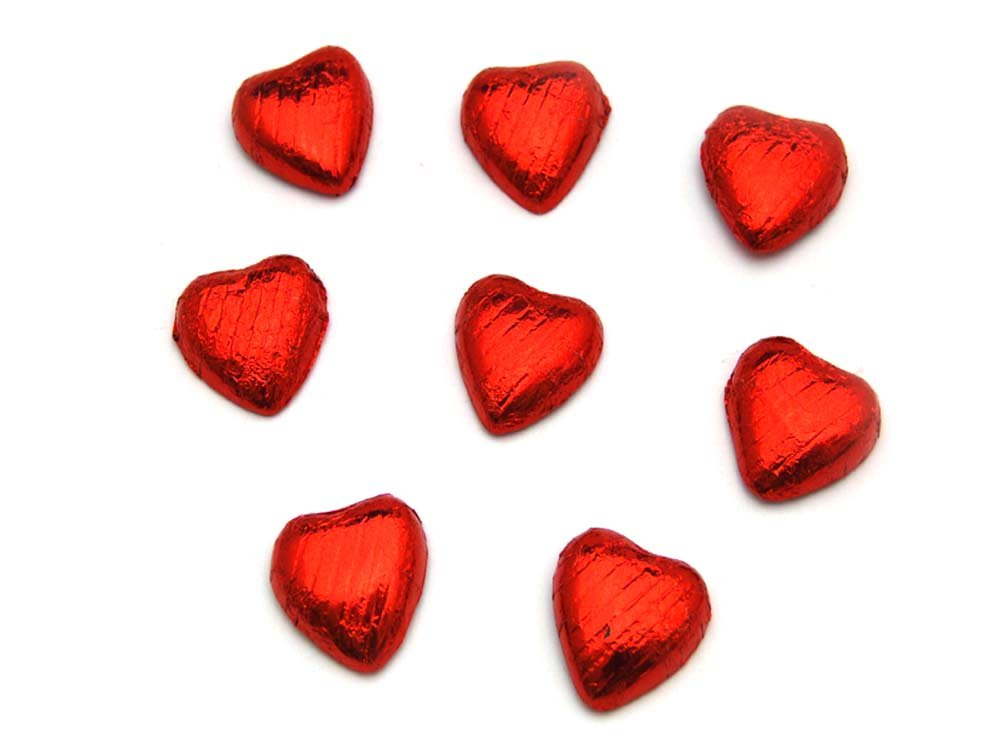 Chocolate Hearts Red