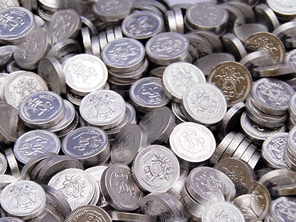 Chocolate Coins 20p Sterling
