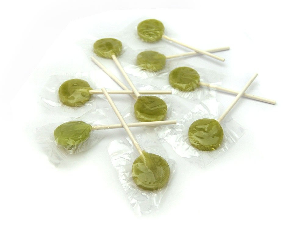 Flat Round Lollies Green