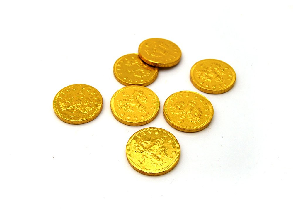 Gold Milk Chocolate 5p Coin