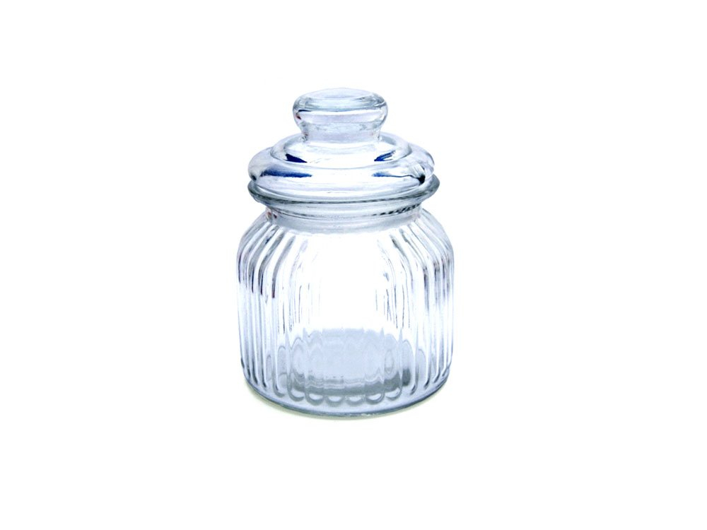 Boutique Glass Sweet Jar 650ml