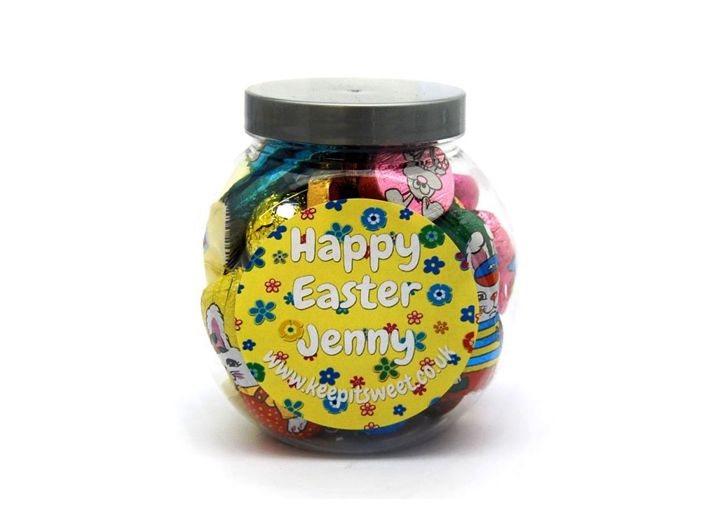 Easter Personalised Sweet Jar Small