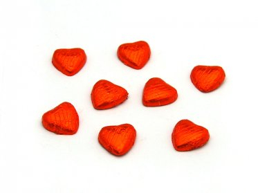 Chocolate Hearts Orange