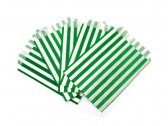Green Candy Striped Bags