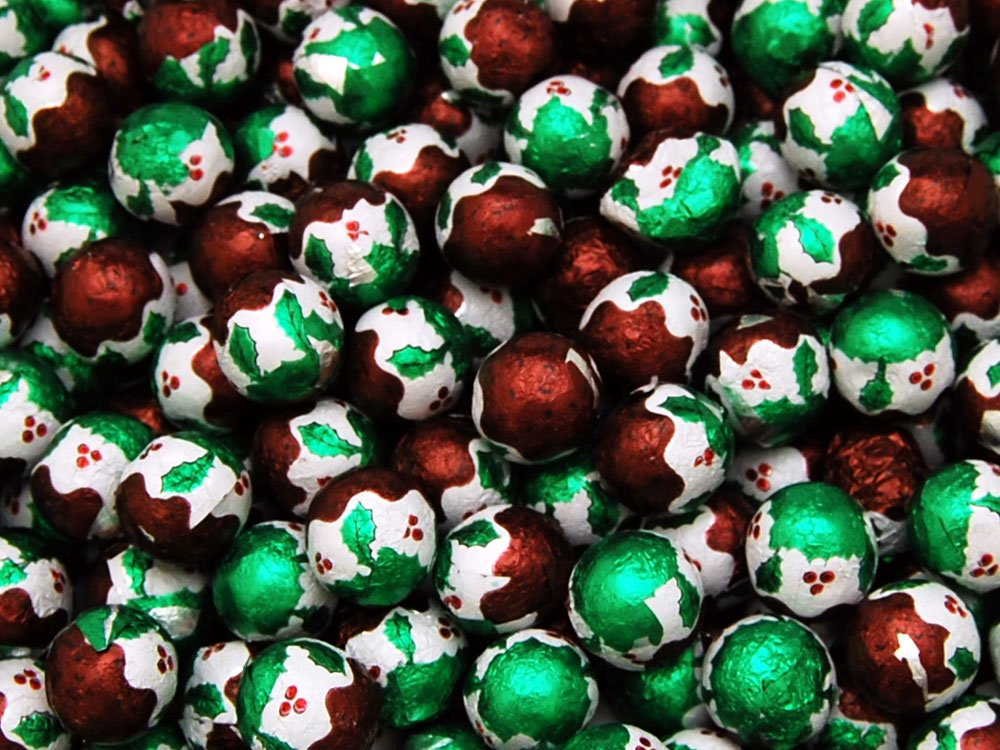 Milk Chocolate Christmas Puddings
