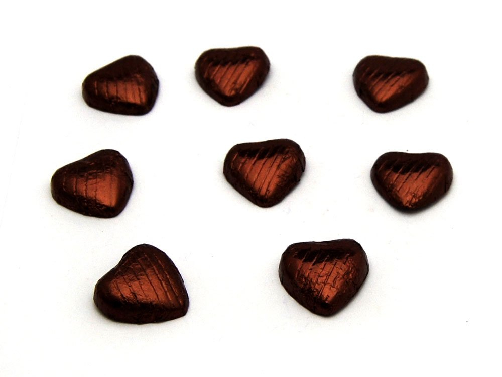 Chocolate Hearts Brown