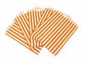 Orange Candy Striped Party Bags