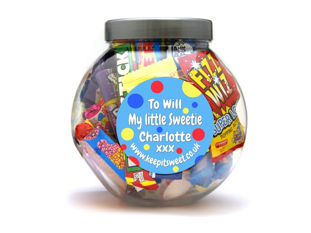 Birthday Personalised Sweet Jar Large