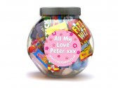 Girls Personalised Sweet Jar Large