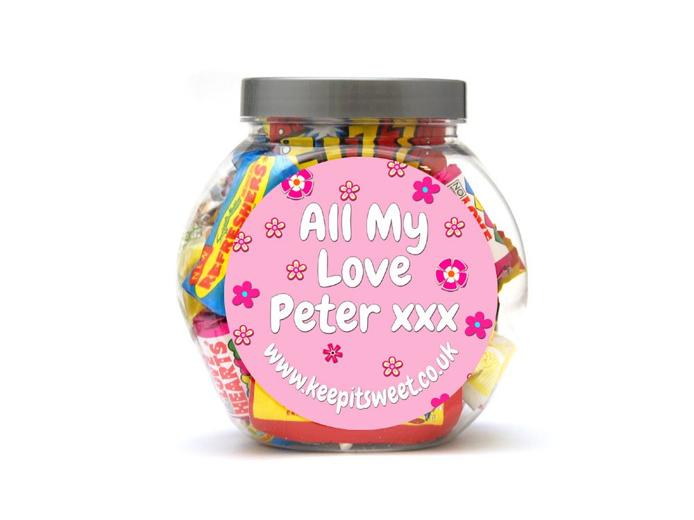 Girls Personalised Sweet Jar Small