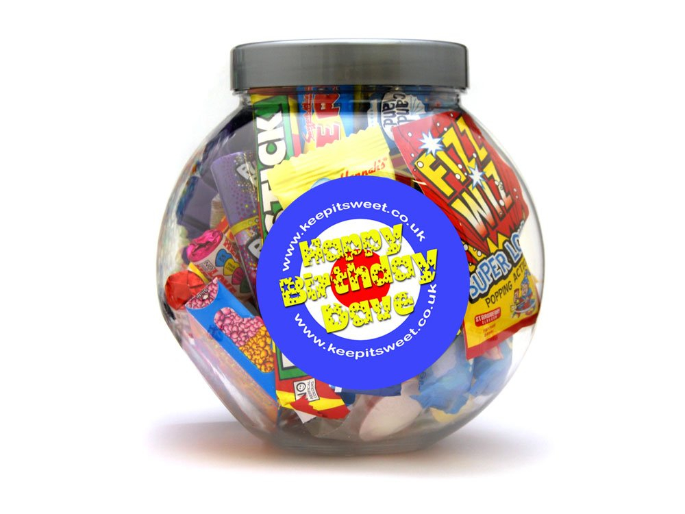 Personalised Sweet Jar | Retro Sweets | Keep It Sweet