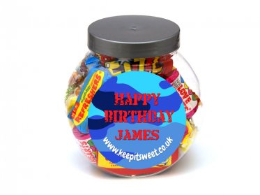 Boys Personalised Sweet Jar Small