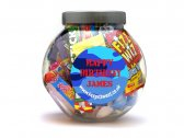 Boys Personalised Sweet Jar Large