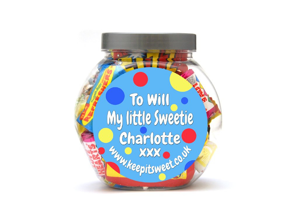 Birthday Personalised Sweet Jar Small