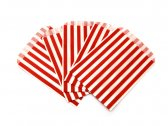 Red Candy Striped Paper Bags