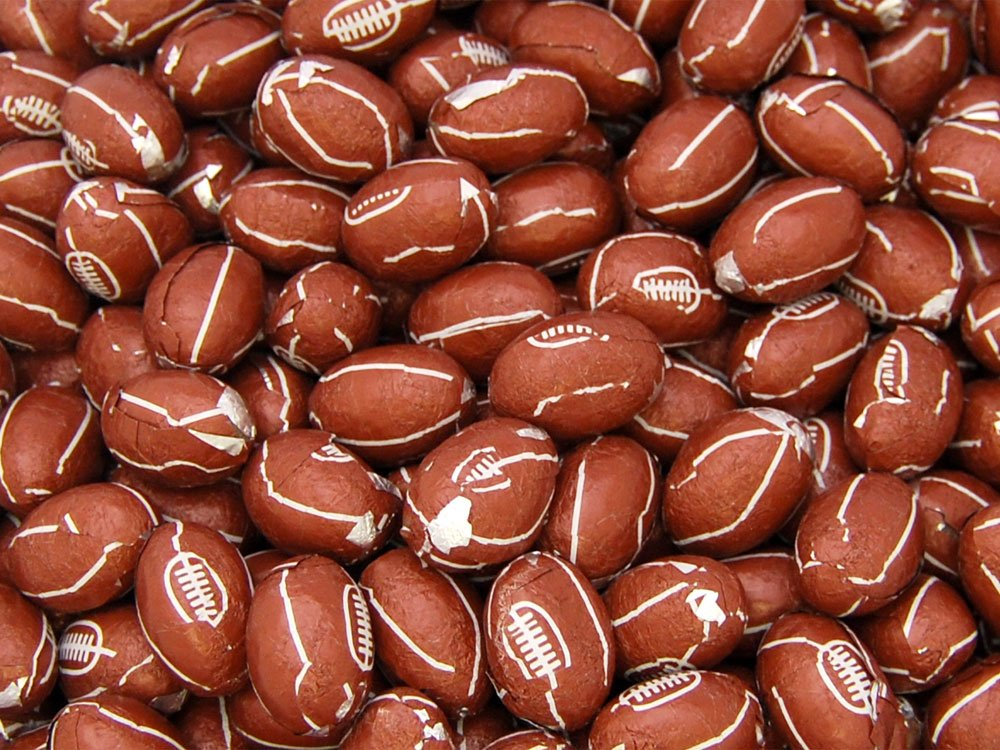 Milk Chocolate Rugby Balls