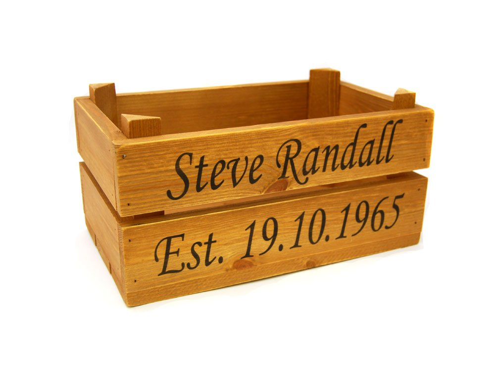 Personalised Rustic Crate