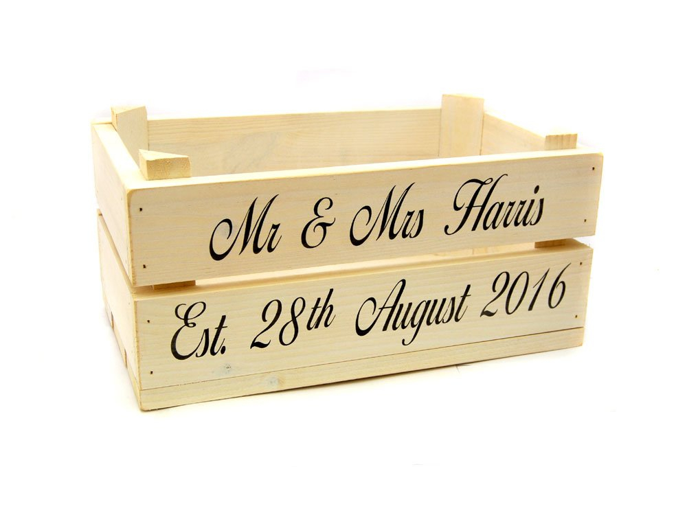 Personalised Vintage White Crate