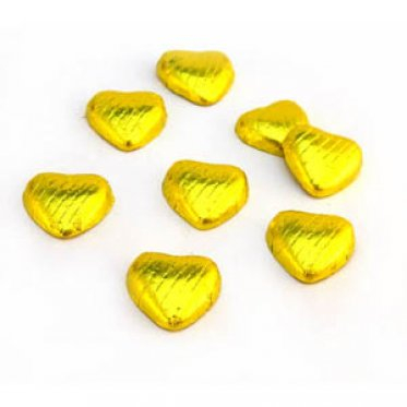 Chocolate Hearts Yellow
