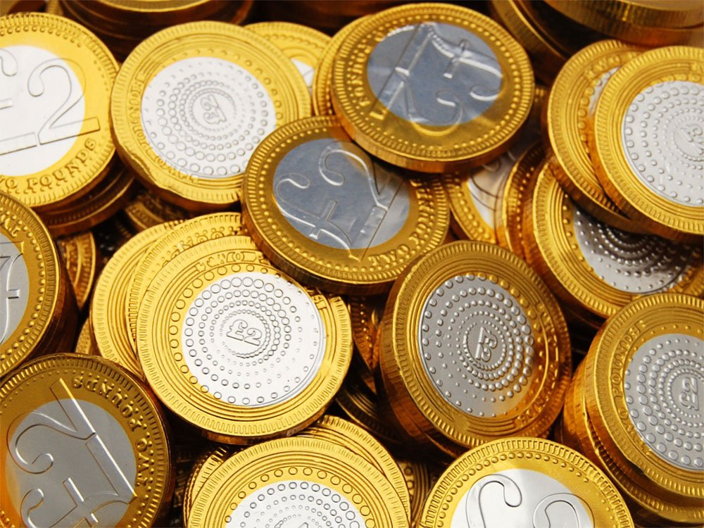 Chocolate Coins £2 Sterling