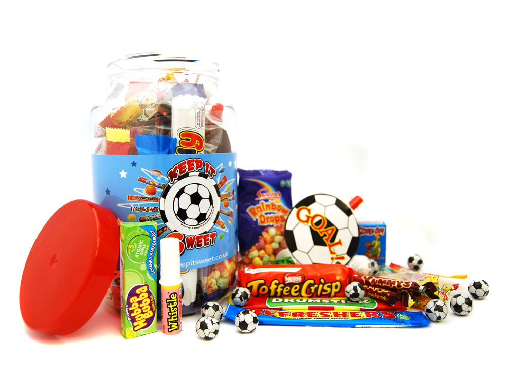 Football Sweet Jar | Glass Sweet Jars | Keep It Sweet