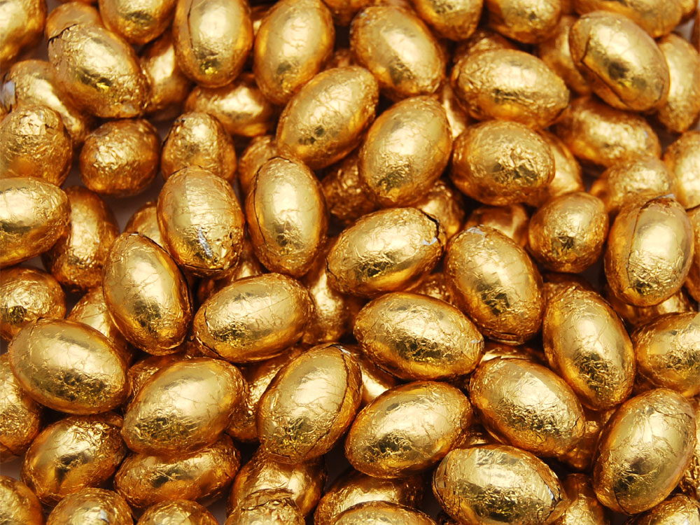 Milk Chocolate Eggs Gold