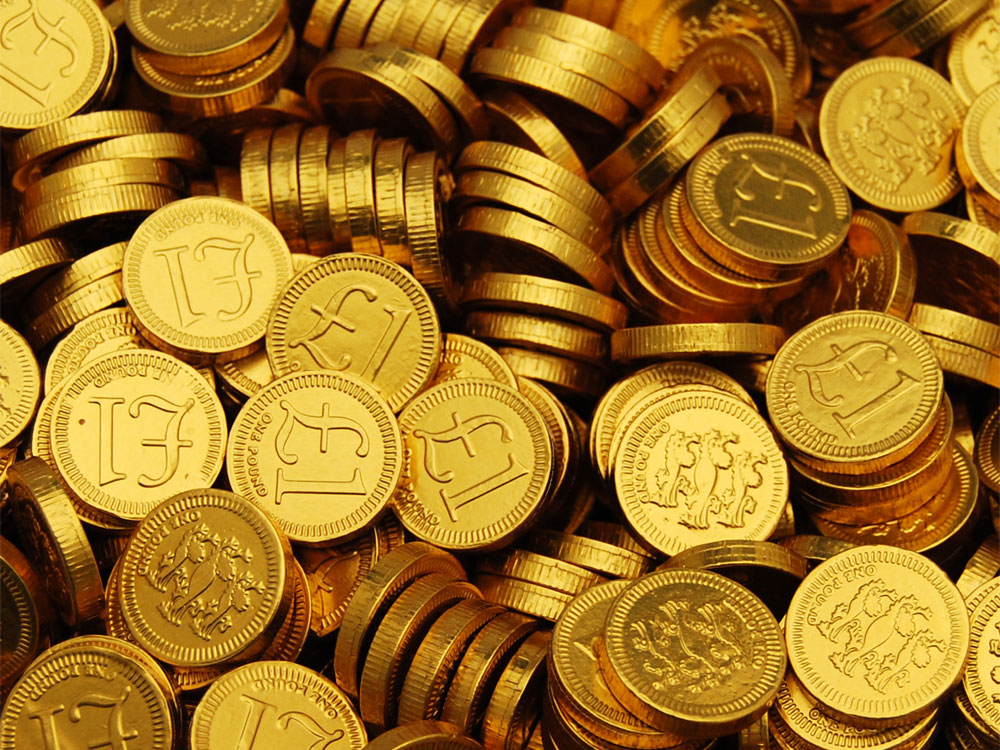 Buy Chocolate Coins GBP1 Sterling Online From Keep It Sweet