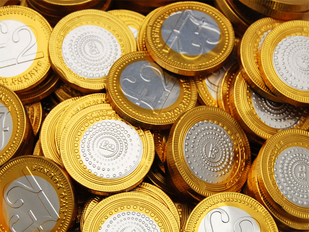Two Year Anniversary >> Buy chocolate coins £2 sterling online from Keep It Sweet