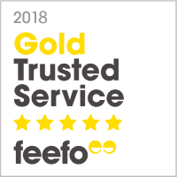 Gold Trusted Service 2018 - Feefo