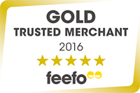 Gold Trusted Merchant 2016 - Feefo